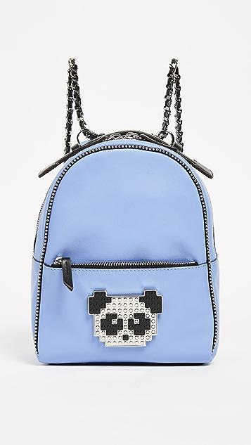 les petits joueurs Baby Mick Metal Panda Backpack