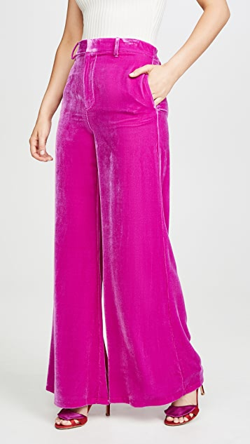 LES REVERIES Velvet Lounge Pants