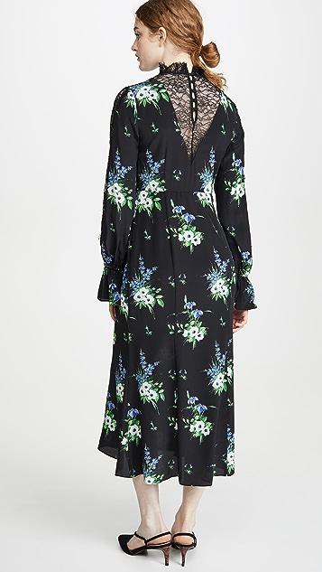 LES REVERIES Lace Inset Victorian Dress
