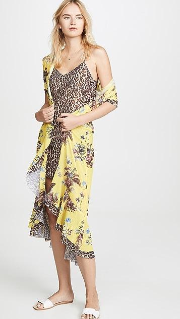 Le Superbe Safari 裹身连衣裙