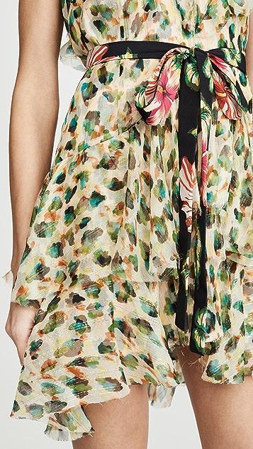 Le Superbe Flirty Painted Leopard Chiffon Dress