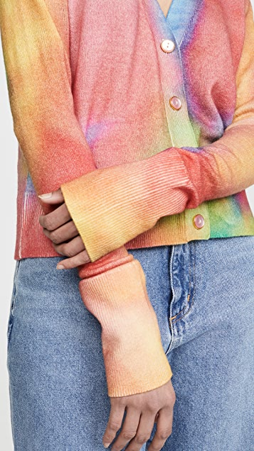 Le Superbe Tie Dye Palm Beach Cashmere Cardigan