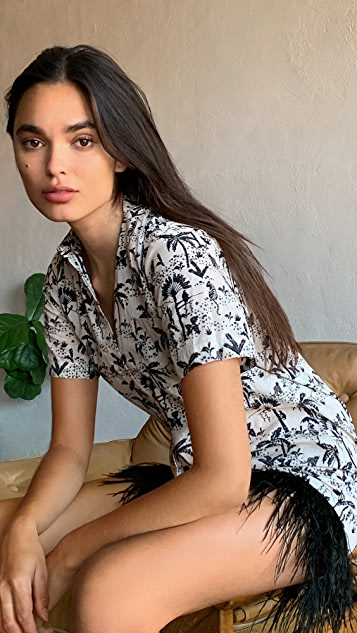 Le Superbe Imperial Palm Camp Dress