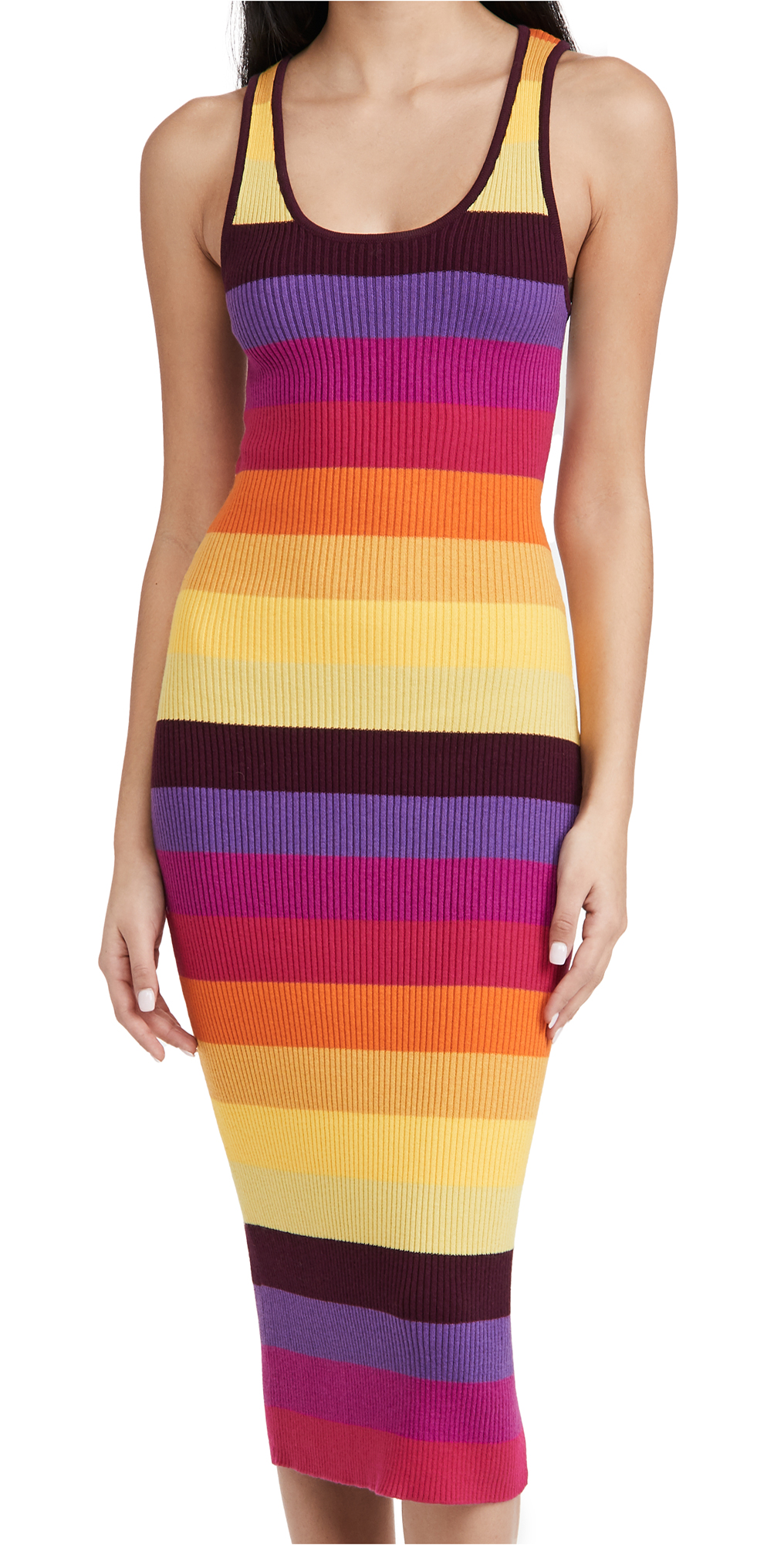 Le Superbe Prismatic Ribbed Dress