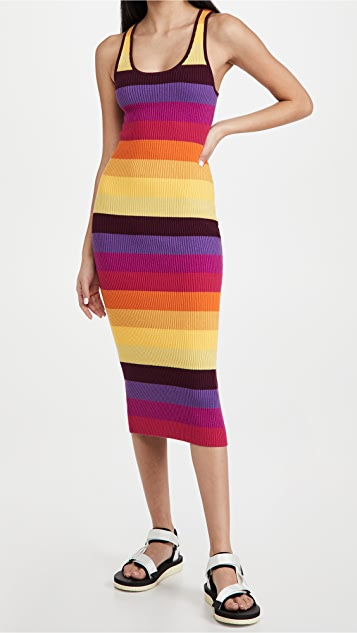 Le Superbe Prismatic Ribbed Dress
