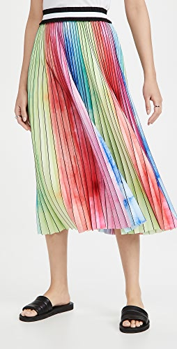 Le Superbe - Watercolor Rainbow Pleated Skirt