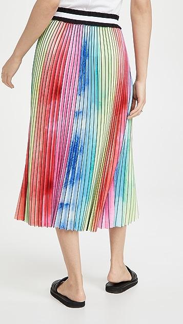 Le Superbe 水彩色彩虹裥褶半身裙