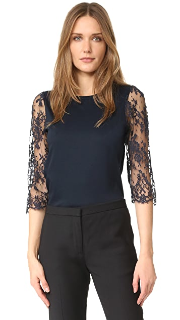 Leur Logette Lace Sleeve Top