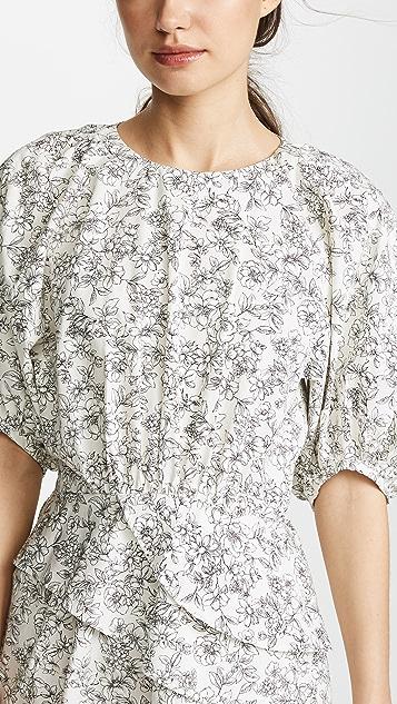 Leur Logette Dot Flower Print Dress