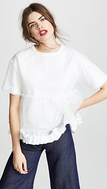 Leur Logette Organza Layered Top