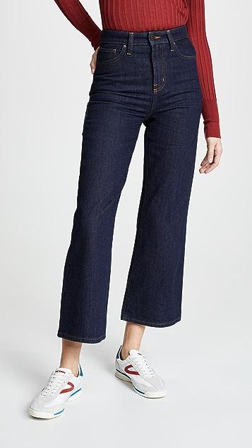 Lee Vintage Modern Cropped Wide Leg Jeans
