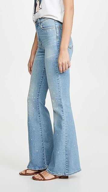 Модель Lee в стиле современный винтаж Расклешенные джинсы