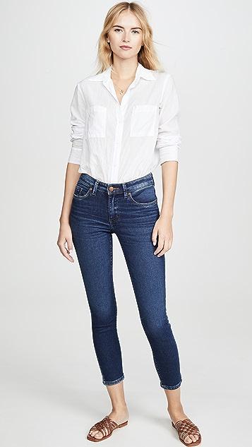 Lee 复古时尚魅力 中腰紧身九分牛仔裤