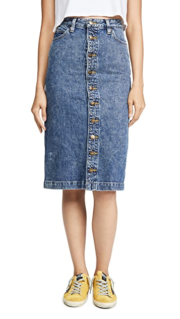 Lee Vintage Modern High Rise Midi Skirt