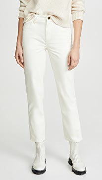 High Rise Dungaree Ankle Jeans