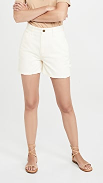 High Rise Dungaree Shorts