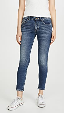 Midrise Skinny Ankle Jeans