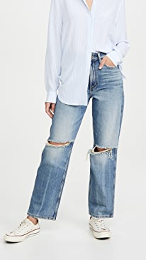 High Rise Relaxed Stovepipe Jeans