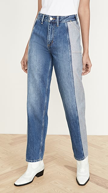 Lee Vintage Modern High Rise Seamed Relaxed Stovepipe Jeans
