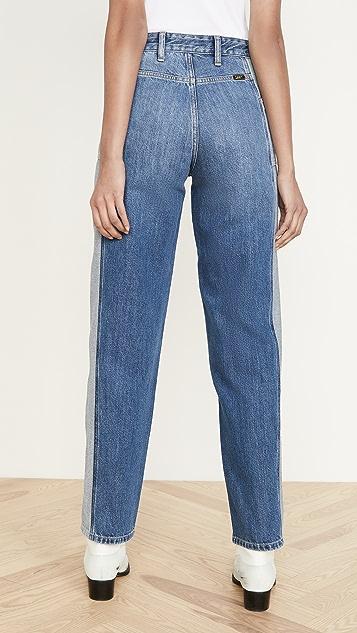 Lee Vintage Modern 高腰接缝休闲烟筒形牛仔裤