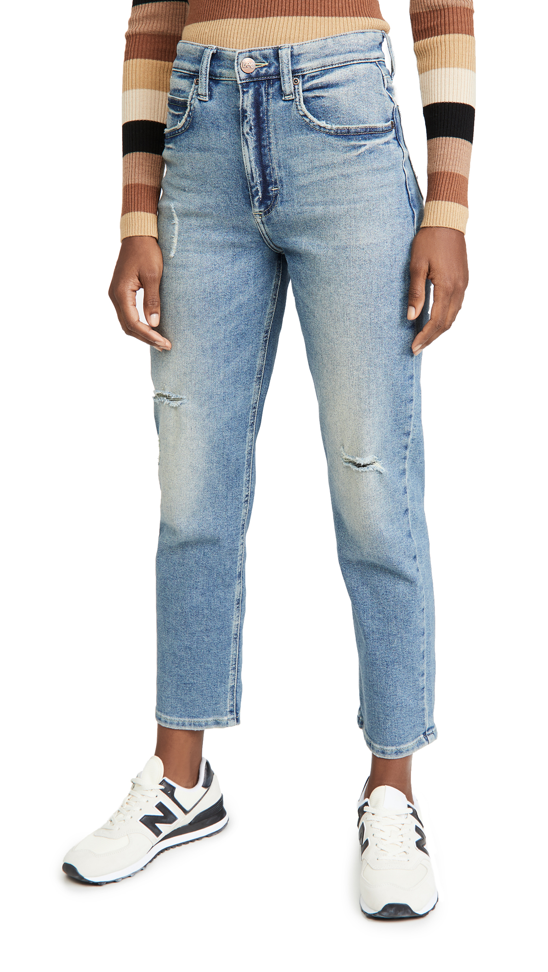 Lee Vintage Modern High Rise Straight Leg Ankle Jeans