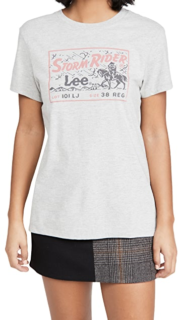 Lee 复古时尚魅力 Storm Rider T 恤