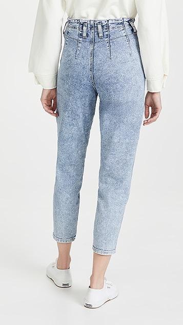 Lee 复古时尚魅力 Lady Lee 锥形纸包腰部牛仔裤