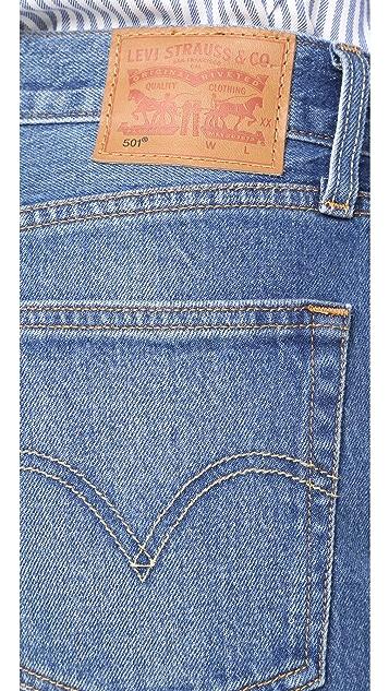 Levi's 501 Frayed Hem Jeans