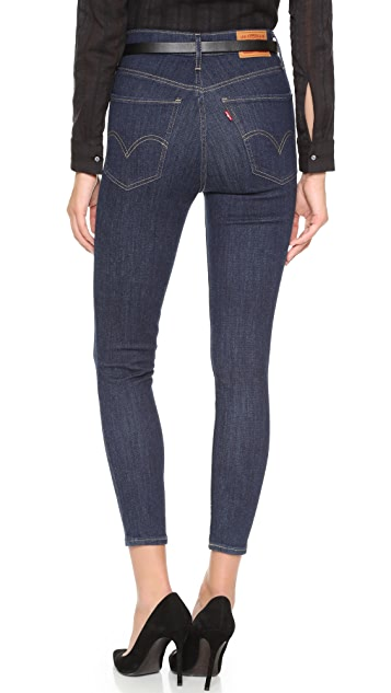 Levi's Укороченные джинсы суперскинни Mile с высокой посадкой
