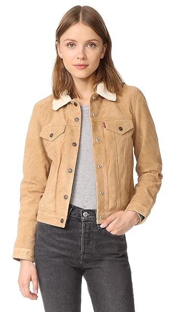 Levi's Suede Sherpa Trucker Jacket