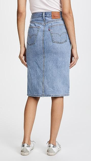 Levi's Side Slit Skirt