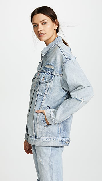 Levi's Baggy Distressed Trucker Jacket