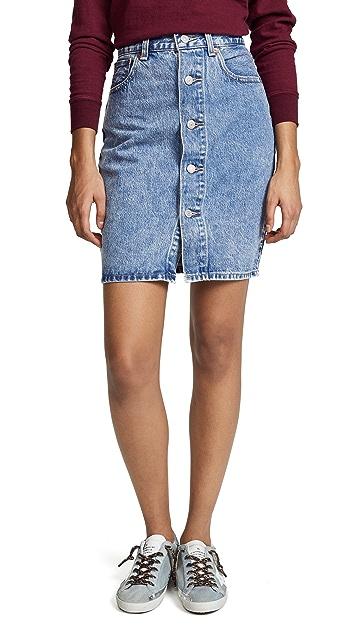 Levi's Button Thru Skirt