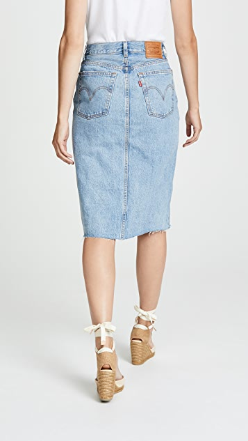 Levi's Deconstructed Long Skirt