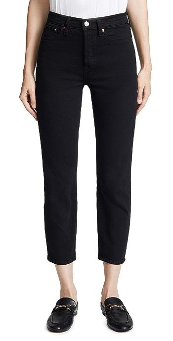 Levis Wedgie Straight Jeans - Black Heart