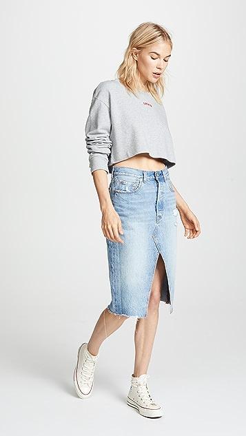Levi's Cropped Sweatshirt