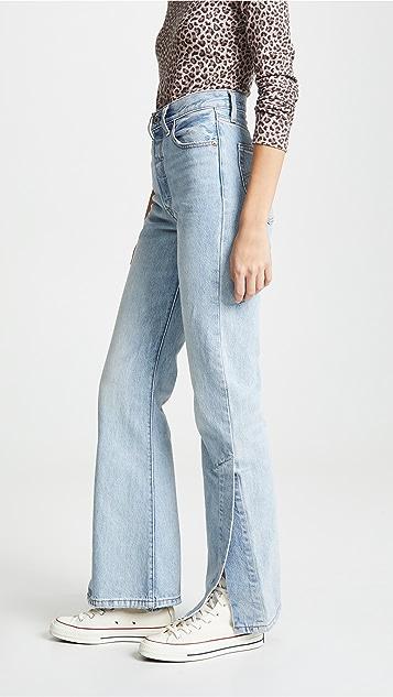 Levi's Расклешенные джинсы Ribcage с разрезами