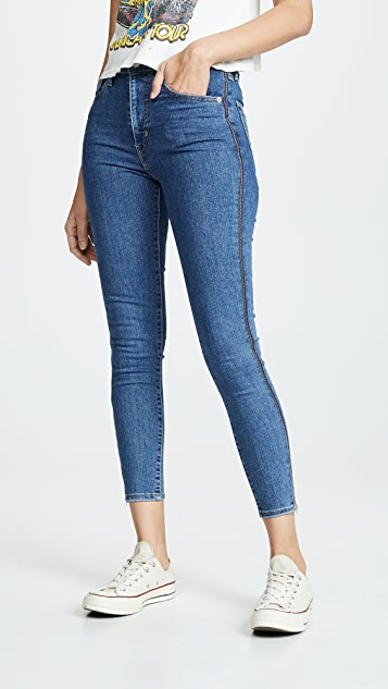 Levi's Mile High Ankle Zip Jeans