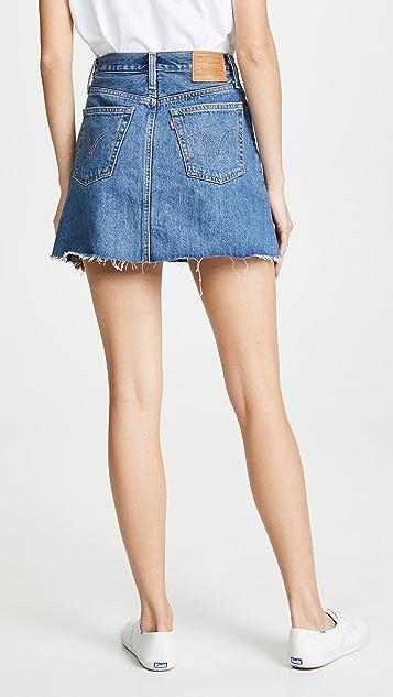 Levi's Мини-юбка с пуговицами спереди