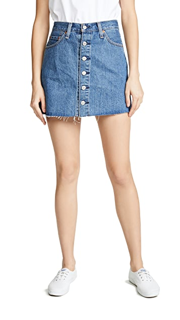 Levi's Button Front Miniskirt