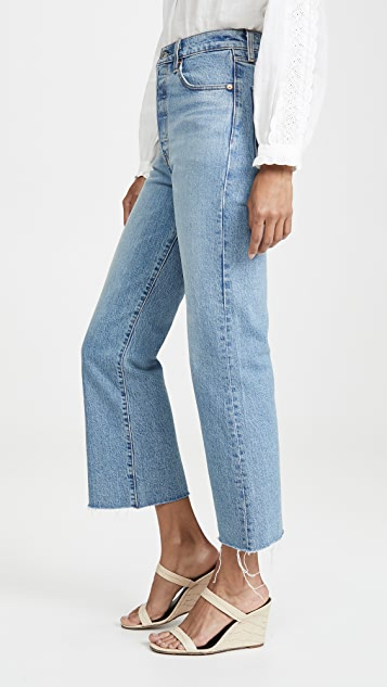 Levi's Укороченные расклешенные джинсы Ribcage