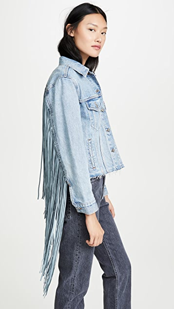 Levi's Куртка Ex-Boyfriend Trucker с бахромой