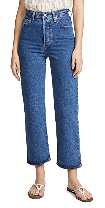 Levis Ribcage Straight Ankle Jeans - Georgie