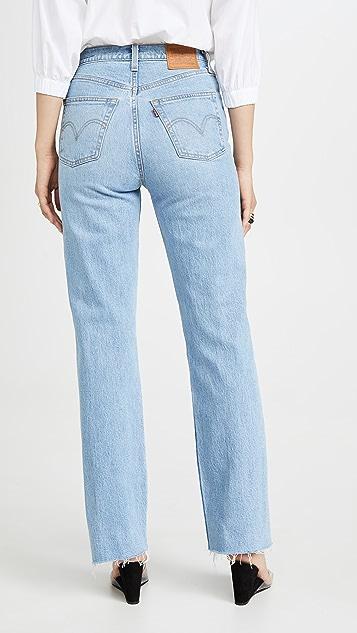 Levi's Прямые длинные джинсы Ribcage
