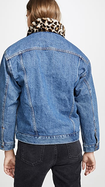 Levi's Oversized Reversible Faux Fur Trucker Jacket