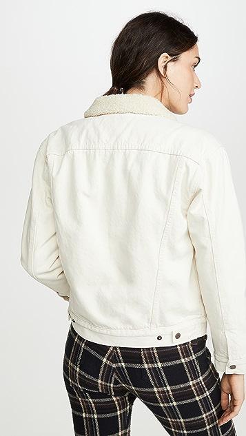 Levi's 男孩风羊羔绒运动夹克