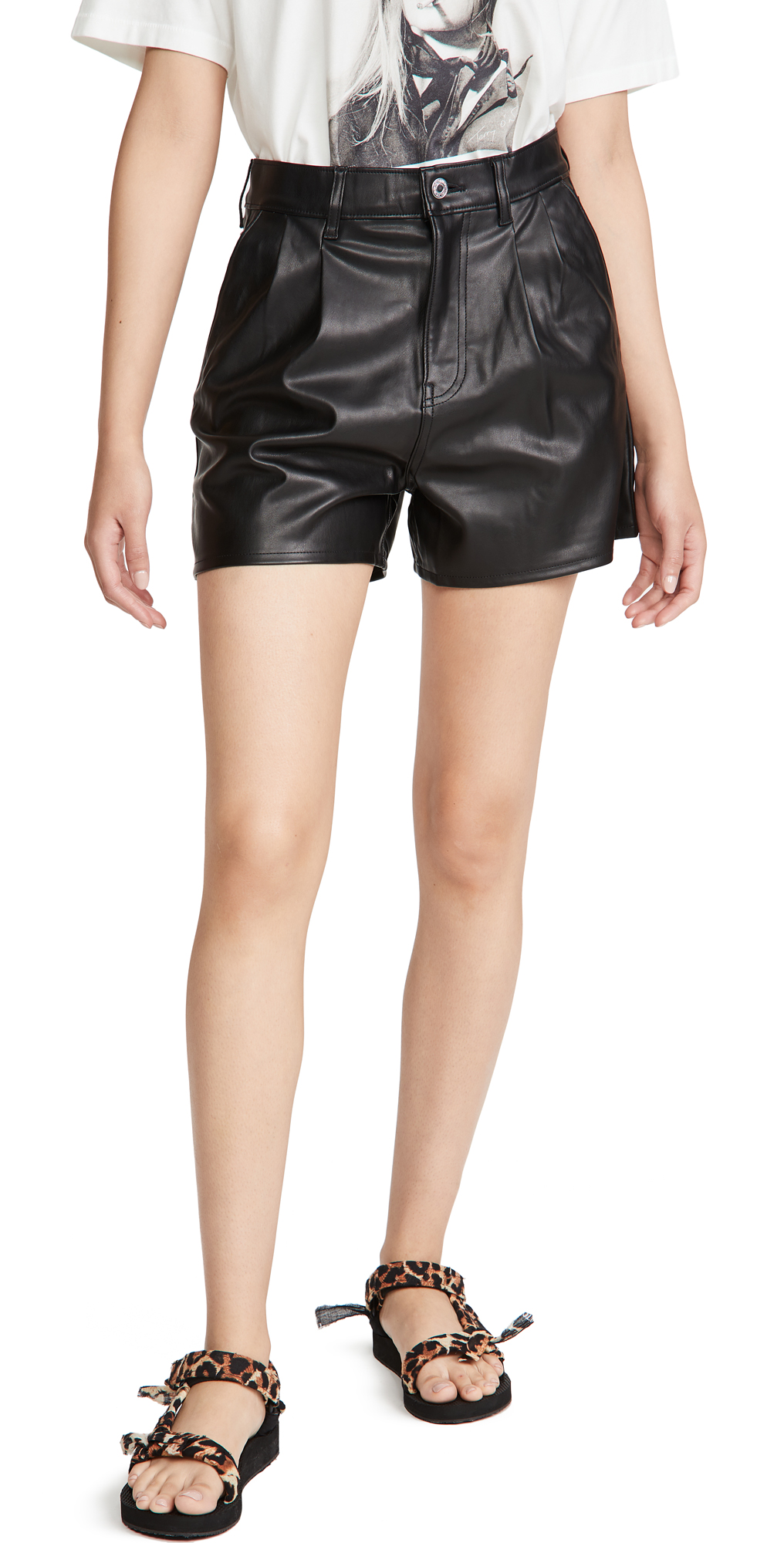 Levi's Hi Rise Faux Leather Shorts