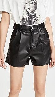 Levi's Hi Rise Faux Leather Shorts