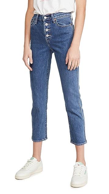 Levi's Wedgie 实用直筒裤