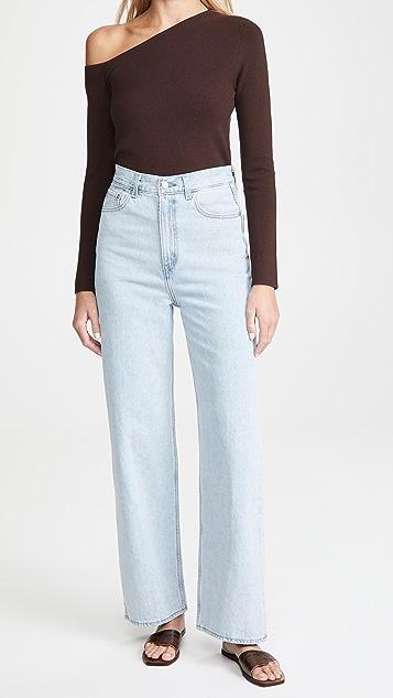 Levi's 高腰宽松牛仔裤